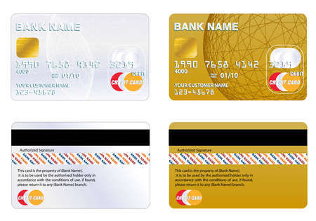 debit card: Professional design and Highly detailed credit card. Illustration