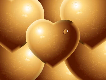 Valentines Day Concept, chocolate hearts background Vector