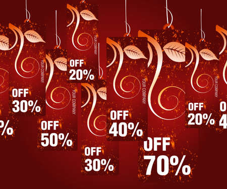 Sales and discount concept Illustration Vector