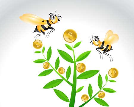 Happy Bee Character, cartoon Illustration. Stock Vector - 8301549