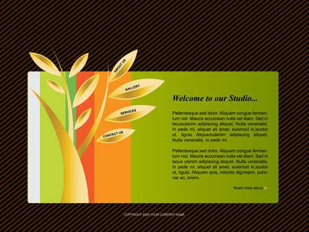 Website Template Stock Vector - 8301861