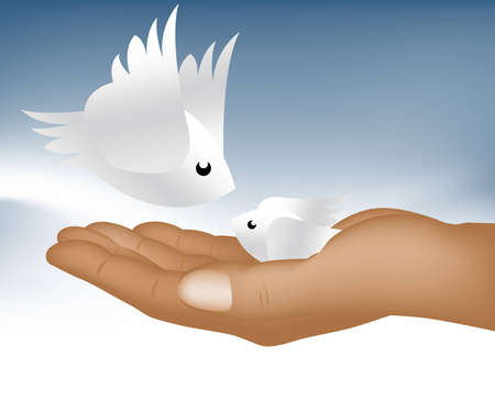 Hand holding small bird