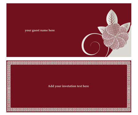 Invitation card for Wedding  or engaged party. Stock Vector - 8297880