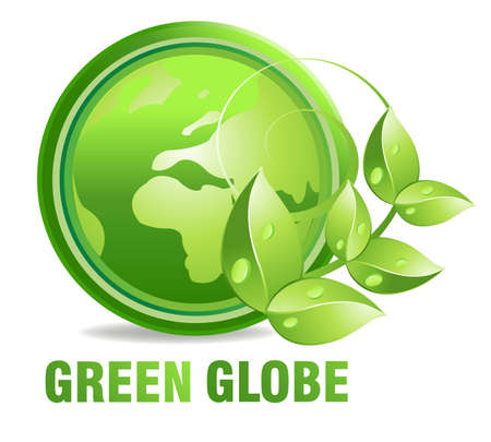 environnement entreprise: Environmet friendly �tiquette, �tiquette de produits naturels fra�che et pure.