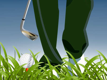 illustration of Golf Sport concept. Vector