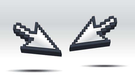 3d cursors Stock Vector - 8301469