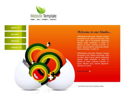 Website Template Stock Vector - 8301940