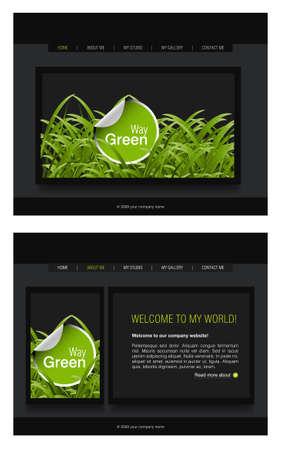 Website Template Stock Vector - 8297979