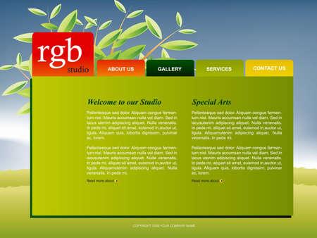 Website Template Stock Vector - 8297852