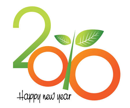 illustration of new year concept 2010 Stock Vector - 8301458