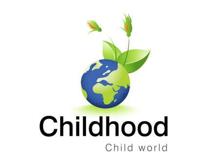sign  childhood:   illustration of logo design for childhood corporative.