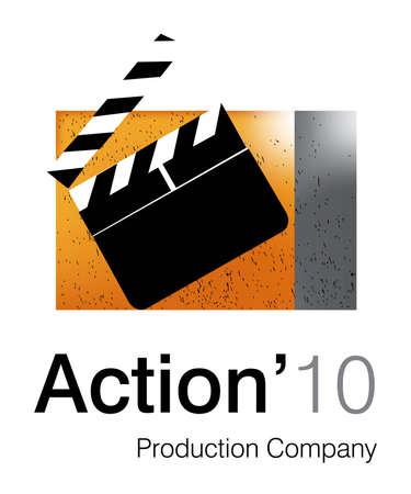 Logo Design for animation Studio. Vector