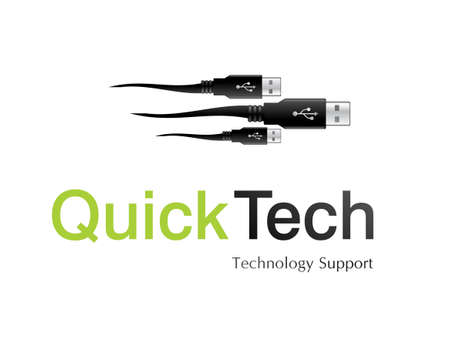illustration of logo design for information technology company.