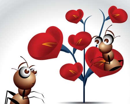 Valentines Day Concept Illustration . Vector