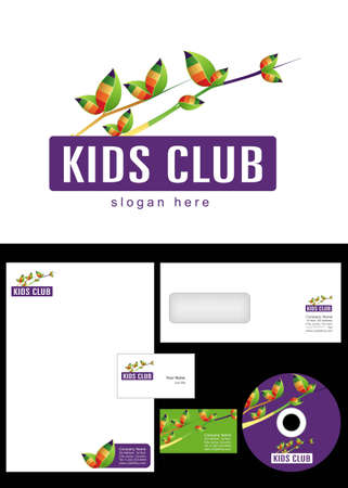 cd label: Kids Club, Area, Team, Section Logo Design and corporate identity package including logo, letterhead, business card, envelope and cd label.