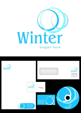 Winter Logo Design and corporate identity package including logo, letterhead, business card, envelope and cd label. Stock Vector - 12959746