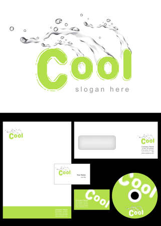 Cool Logo Design and corporate identity package including logo, letterhead, business card, envelope and cd label. Stock Vector - 12959852