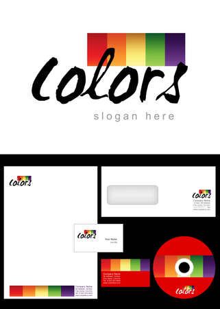 art processing: Colors Logo Design and corporate identity package including logo, letterhead, business card, envelope and cd label.