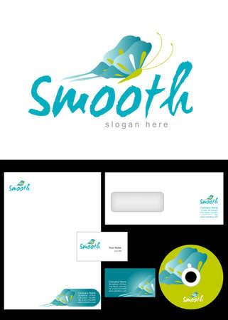 _________ Logo Design and corporate identity package including logo, letterhead, business card, envelope and cd label. Vector