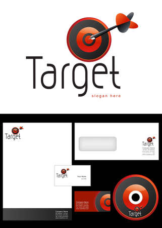 cd label: Target Logo Design and corporate identity package including logo, letterhead, business card, envelope and cd label.