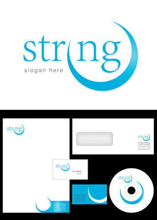 Strong Logo Design and corporate identity package including logo, letterhead, business card, envelope and cd label. Stock Vector - 12947643