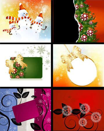 decore: Set of Christmas Designs and backgrounds . Illustration