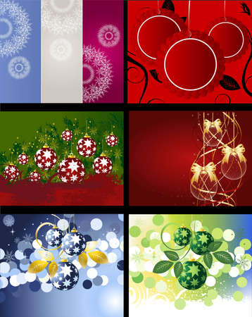 Set of Christmas Designs and backgrounds . Vector