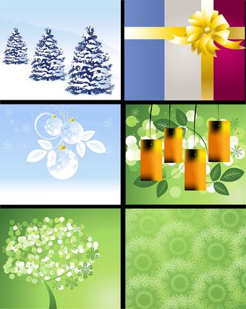 Set of Christmas Designs and backgrounds . Stock Vector - 16138137