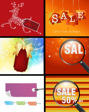 Set of sale conceptual design and illustration . Vector