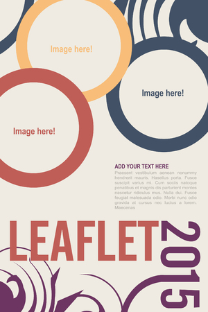 Editable Leaflet template design . Vector