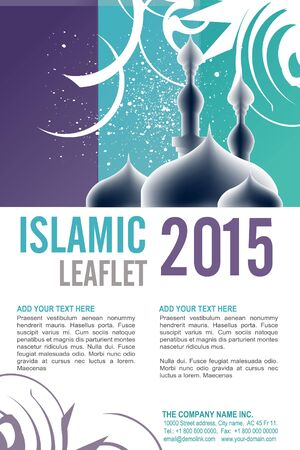 Editable Leaflet template design . Vector