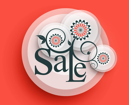 advertisment: Modern Style Sale Tag Design with copy space.