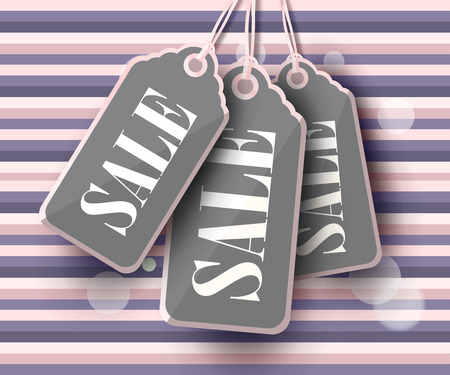 Modern Style Sale Tag Design with copy space. Vector