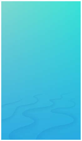 Underwater background with waves. Texture of water surface. Vector illustration. Space for text or object