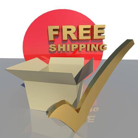 tick box: red free shipping tick box