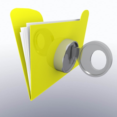 lock and key: key lock documents, folders