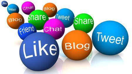 tweet: social media, like blog tweet