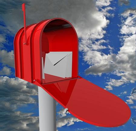 await: mail box, mails red