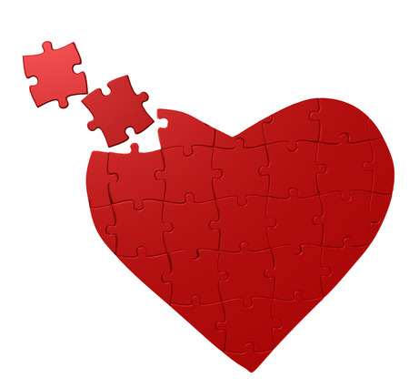 heart puzzle: heart puzzle, valentine day, piecies