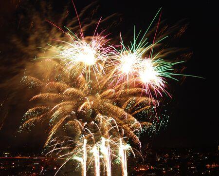 Yellow fireworks Stock Photo - 6137093