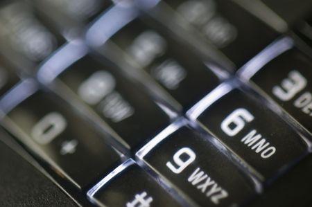 teclado num�rico: Teclado Foto de archivo