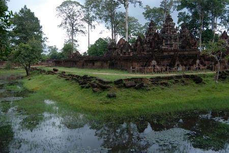 Temple view, Angkor, Cambodia Фото со стока