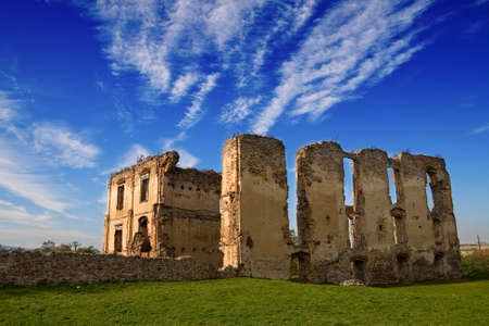 Dark ages castle ruins in Poland Stock Photo