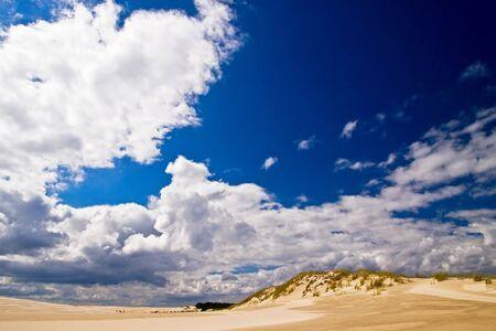 The moving sands in the Polish Desert near Leba