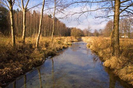 Autumn stream in the village Stock Photo - 9170969