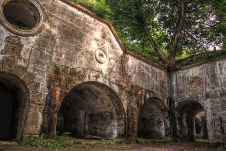 Ruins of fort Salis-Soglio in Przemysl,  Poland