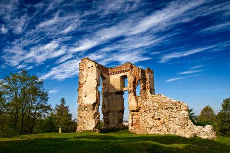 Ruins of a castle in Bodzentyn