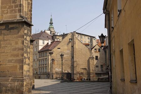 Klodzko city buildings during summer