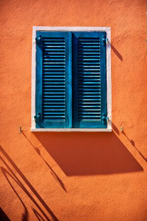 One of windows in Lugano city