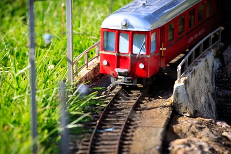 Miniature train in Switzerland miniature city